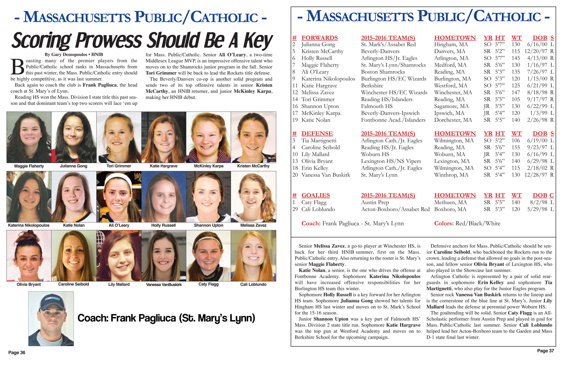 2015-Girls-Major-Showcase-magazine-roster-page